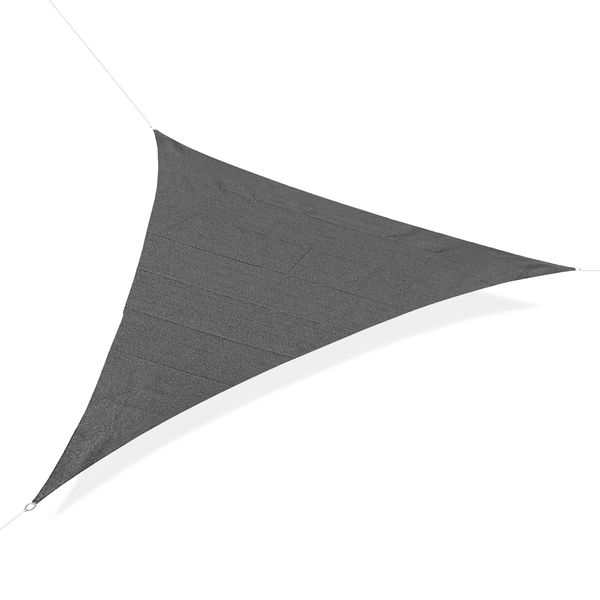 Voile d'ombrage triangulaire grande taille 5 x 5 x 5 m HDPE